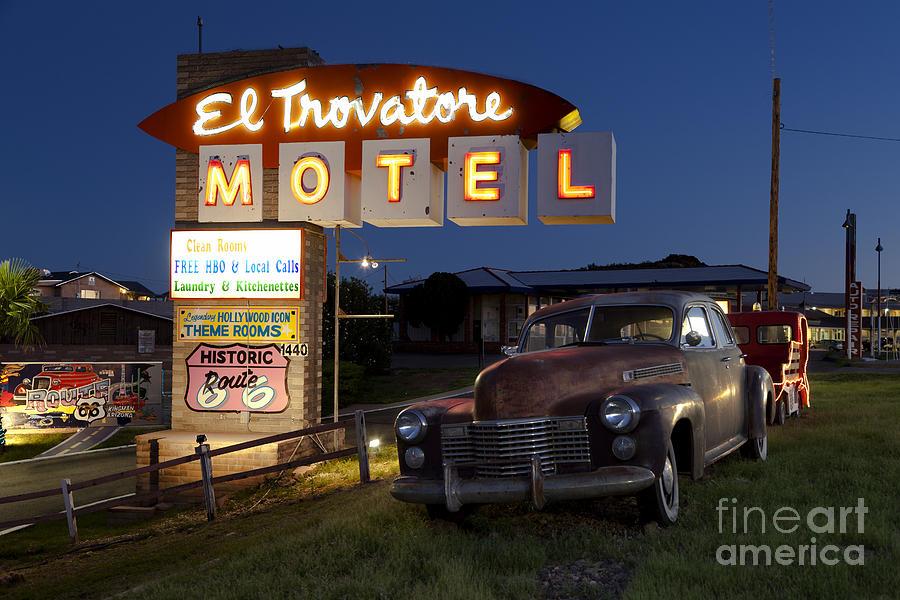 El Trovatore Motel On Route 66 Photograph