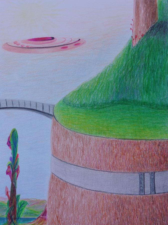 El Valle Drawing By Isaac Leal