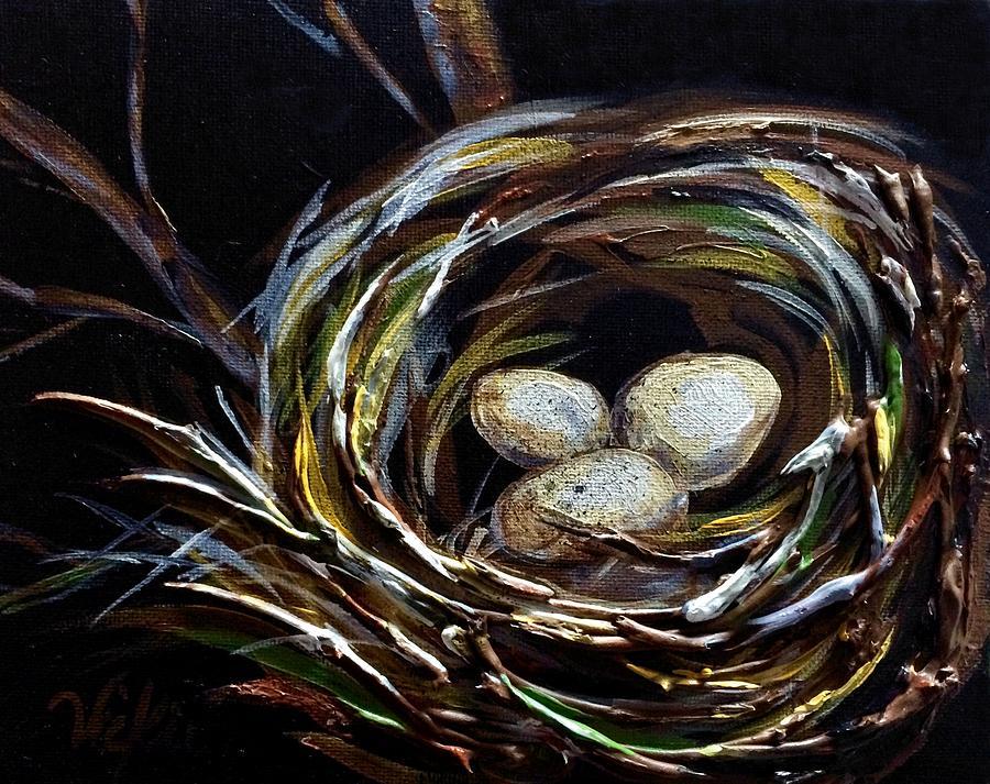 Nest Painting - Elation by Vickie Warner