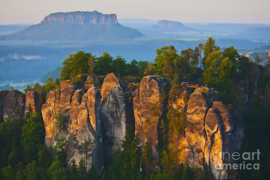 Elbe Sandstone Mountains Photograph by Heiko Koehrer-Wagner