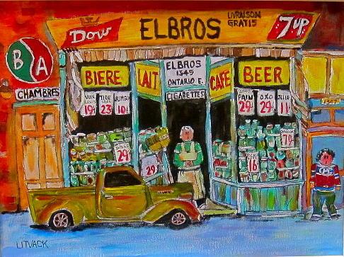 Montreal Painting - Elbros Depanneur by Michael Litvack