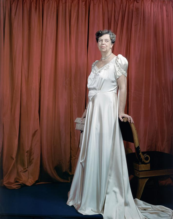 Eleanor Roosevelt In A Rosy-white Gown Photograph by Edward Steichen
