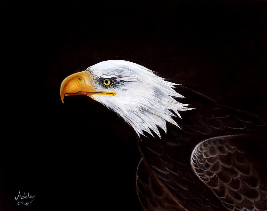 Eagle Painting - Eleanor The Eagle by Adele Moscaritolo