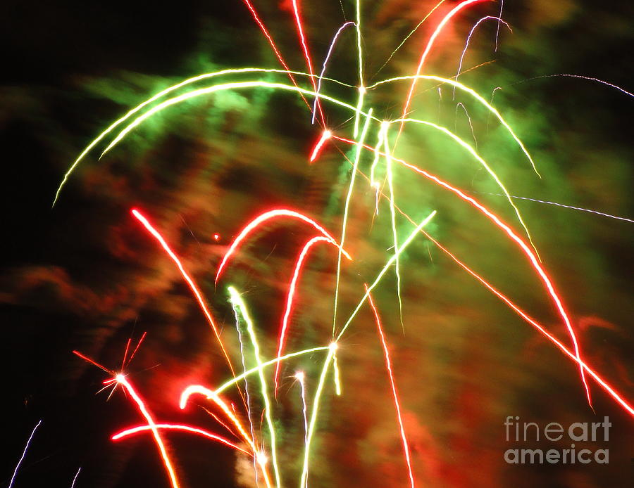 Electric Photograph - Electric City Fireworks Ix by Daniel Henning