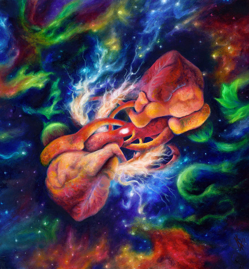 Human Heart Painting - Electric Desire by Kd Neeley