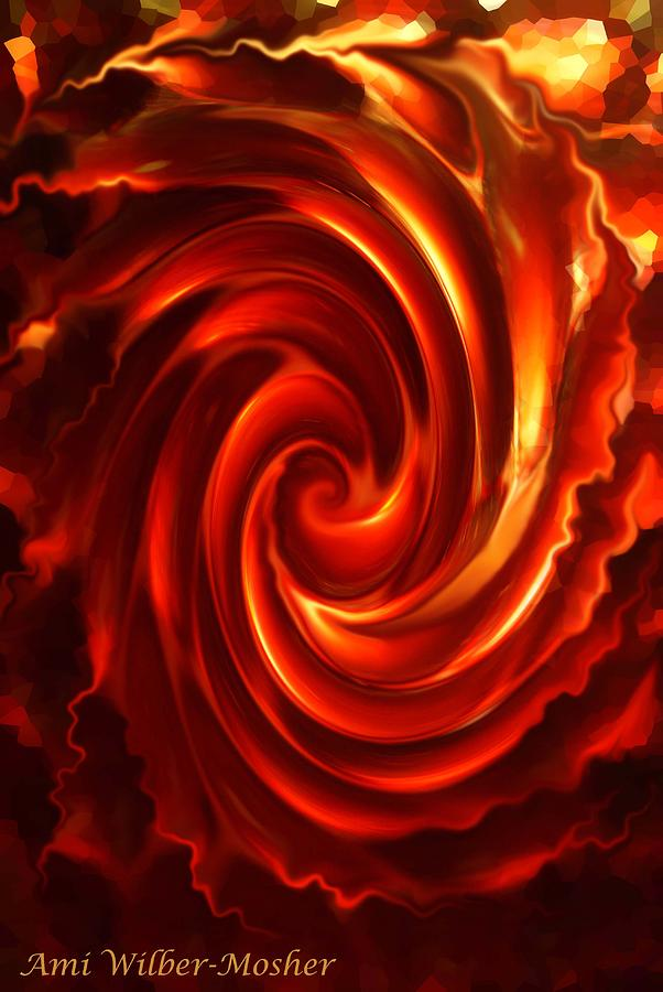 Red Photograph - Electric Fire by Ami Mosher