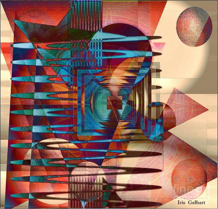 Abstract Digital Art - Electric by Iris Gelbart