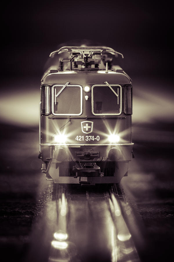 Train Photograph - Electric by Neah Falco