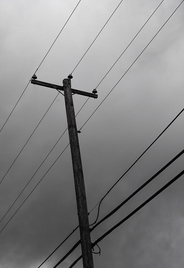 Electric Photograph - Electric Pole by Julien Boutin