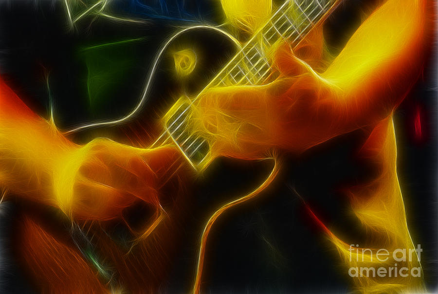 Music Photograph - Electric Slide Fractal by Gary Gingrich Galleries