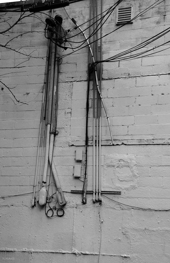 Wall Photograph - Electric Wall In Black And White by Rob Hans