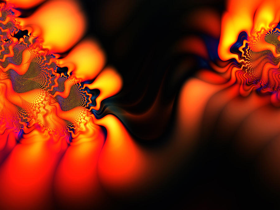 Abstract Digital Art - Electric Wave by Ian Mitchell