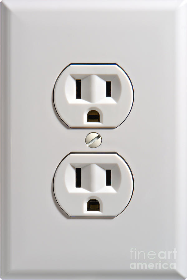 Electrical Outlet Photograph by Olivier Le Queinec