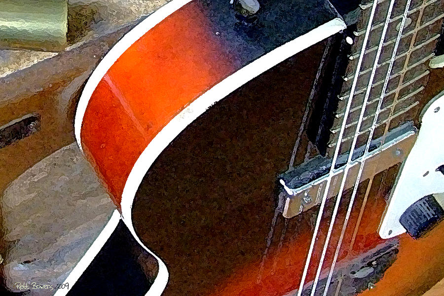 Vintage Guitar Photograph - Electrified by Everett Bowers