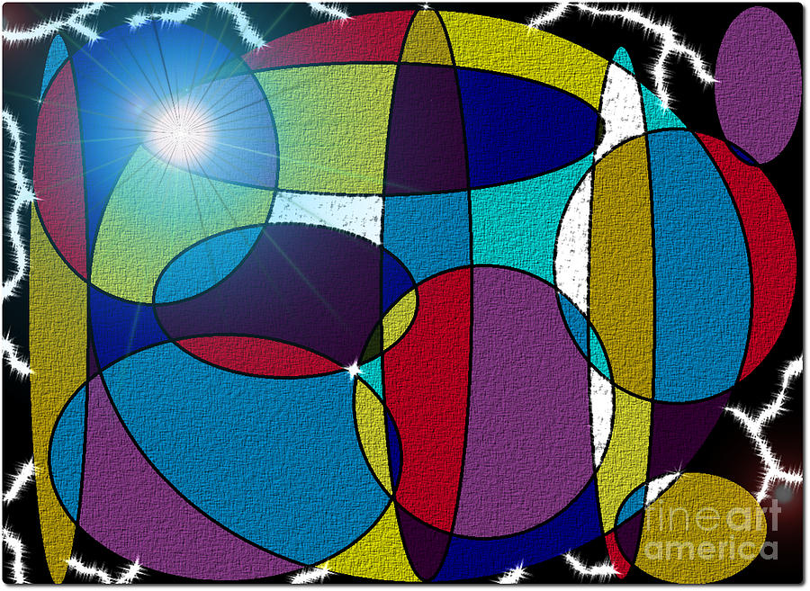 Ovals Digital Art - Electrifying Color by Lewanda Laboy