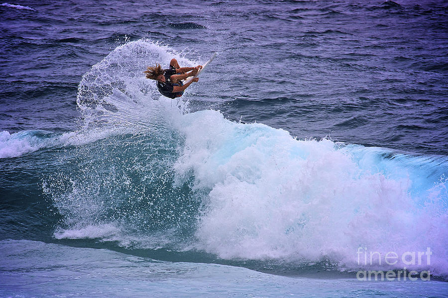 Surfer Photograph - Electrifying Surfer by Heng Tan