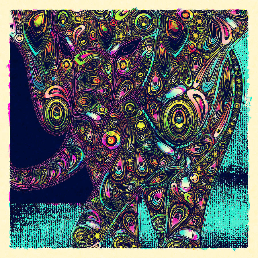 Elephant Digital Art - Elefantos - Ptjs01a by Variance Collections