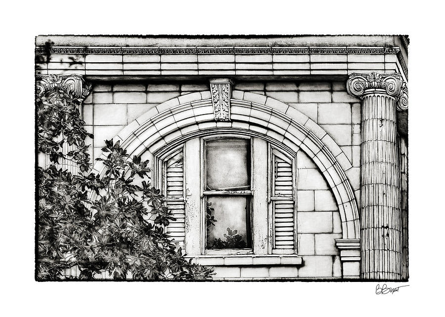Window Photograph - Elegance In The French Quarter In Black And White by Brenda Bryant