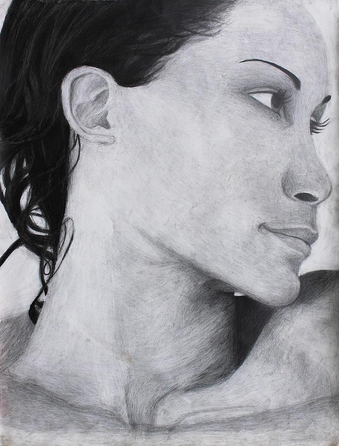 Woman Drawing - Elegance by Maxwell Hanson