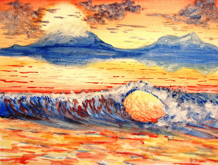 Wave Painting - Elegant Eclipse II by Kevin F Heuman