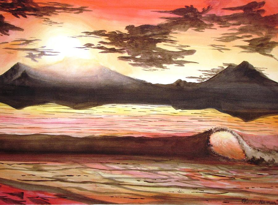 Sunset Painting - Elegant Eclipse by Kevin F Heuman
