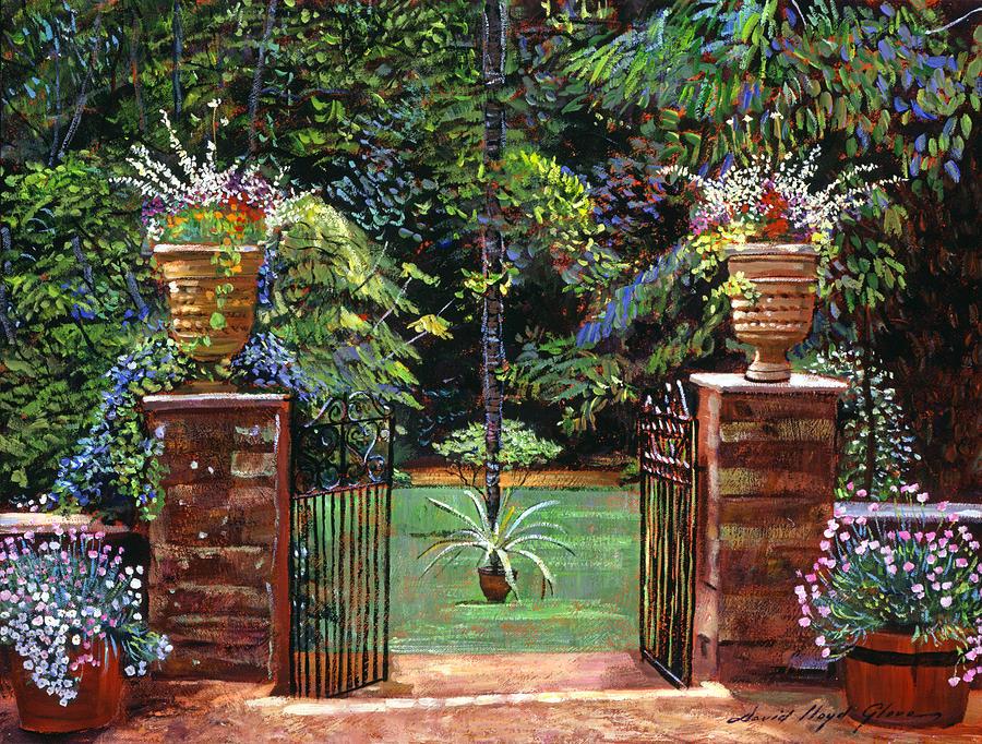 Gardens Painting - Elegant English Garden by David Lloyd Glover