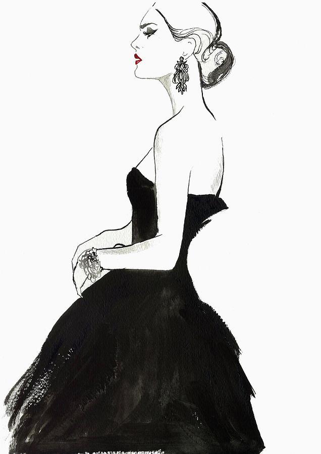 Elegant Haughty Woman Wearing Strapless Digital Art by Jessica Durrant