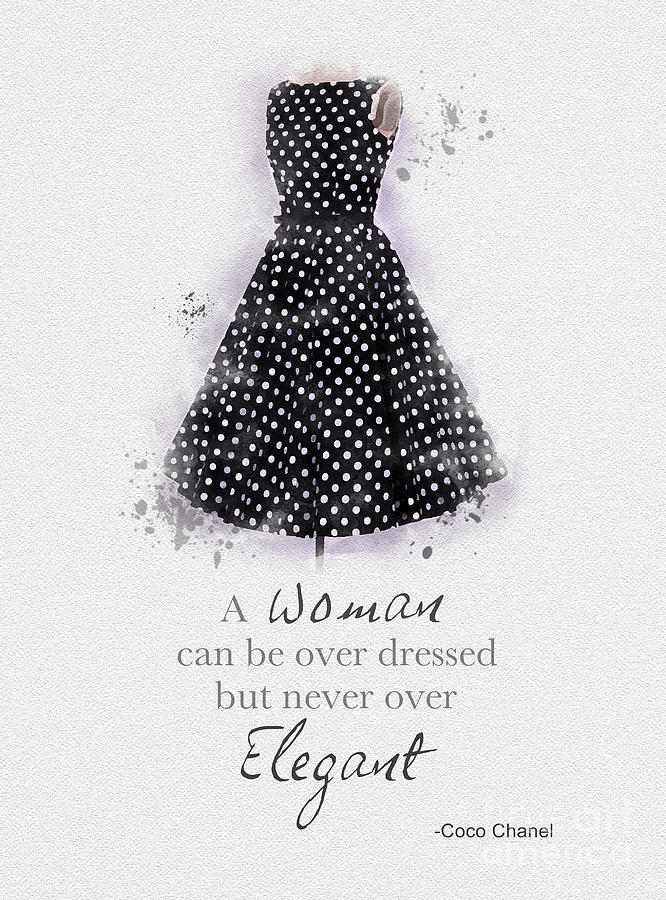 Fashion Mixed Media - Elegant by My Inspiration