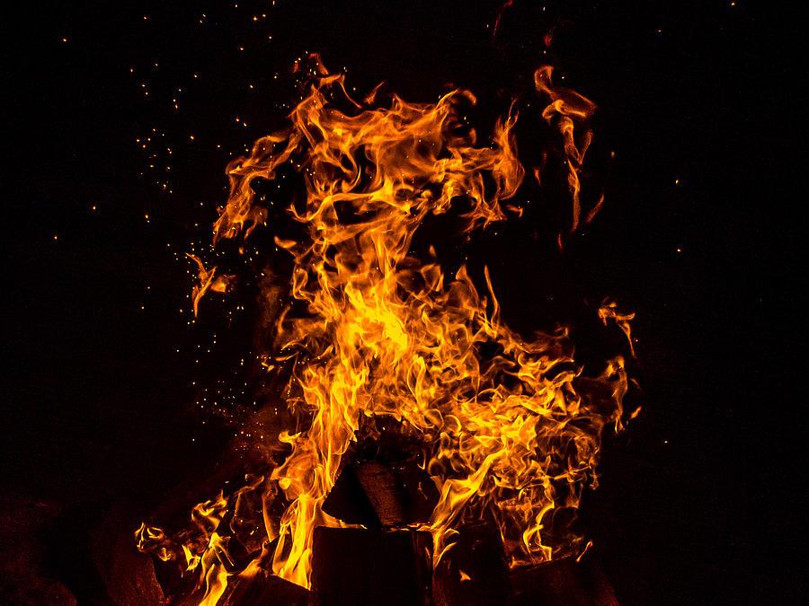 Fire Photograph - Element of Fire by Martin Liebermann