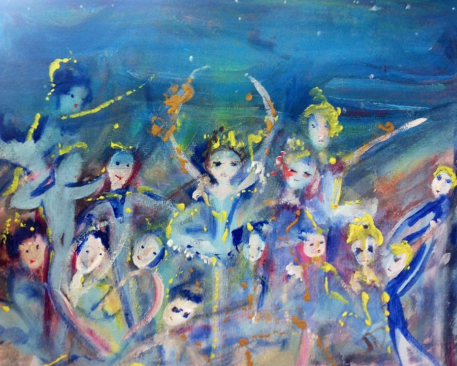 Ballet Painting - Elementals On The Beach Ballet by Judith Desrosiers