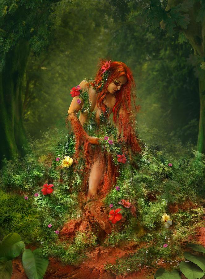 Fantasy Digital Art - Elements - Earth by Cassiopeia Art