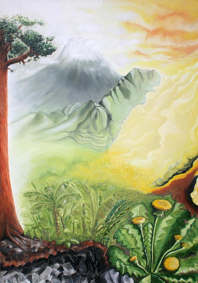 God Painting - Elements A by Sandra Yegiazaryan