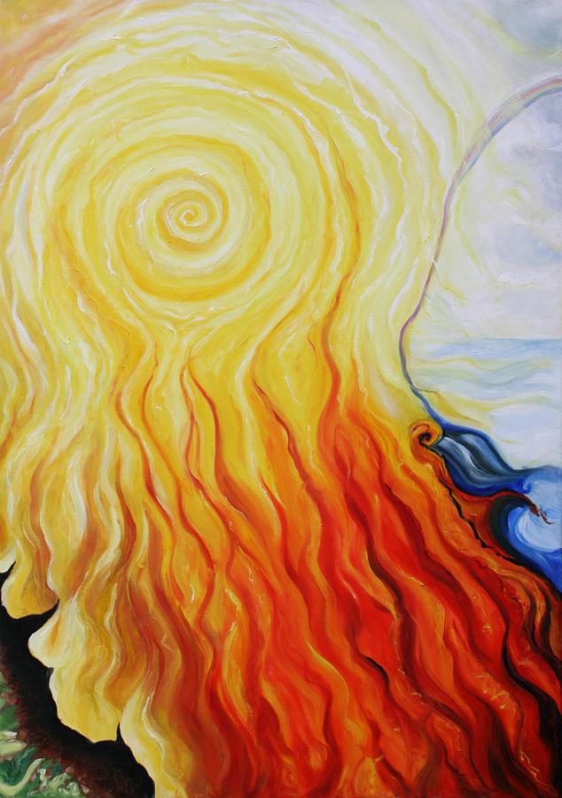 God Painting - Elements B by Sandra Yegiazaryan