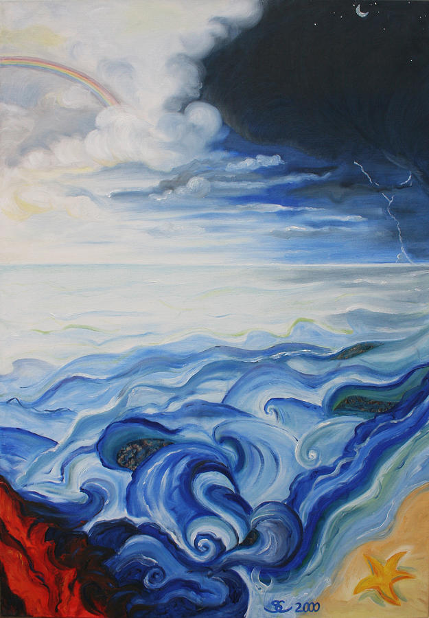God Painting - Elements C by Sandra Yegiazaryan