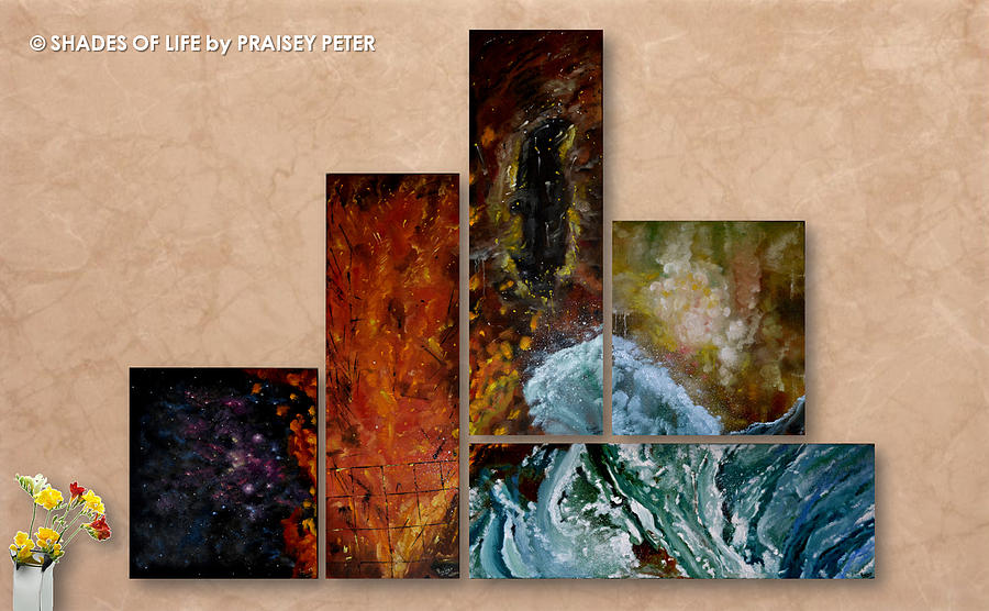 Elements Of Art Painting : Elements of nature painting by praisey peter