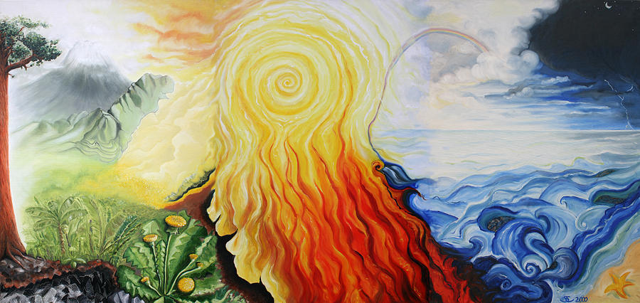 Elements Painting by Sandra Yegiazaryan