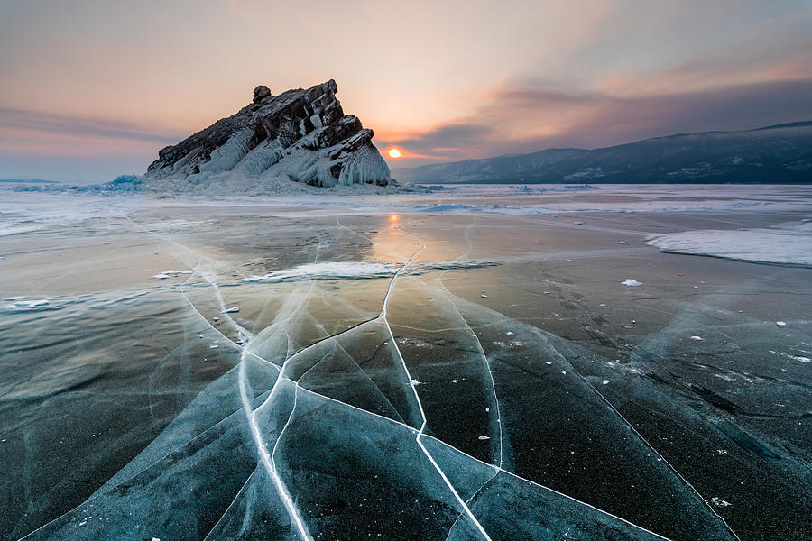 Elenka Island On Lake Baikal In Winter Photograph by Anton Petrus