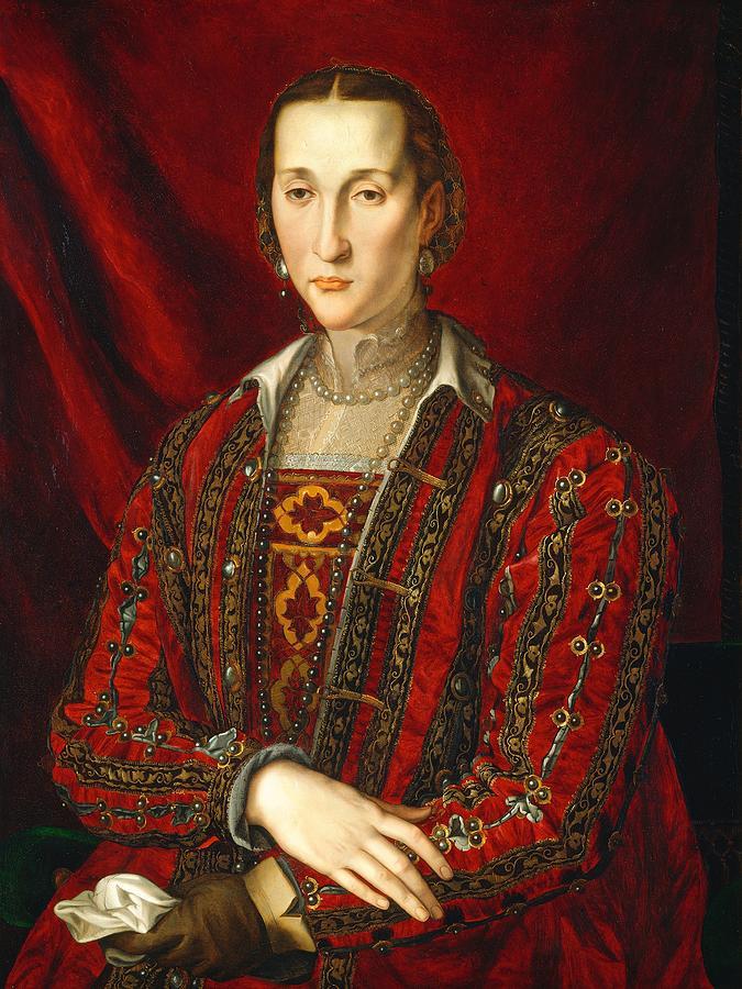 1560 Painting - Eleonora Di Toledo by Agnolo Bronzino