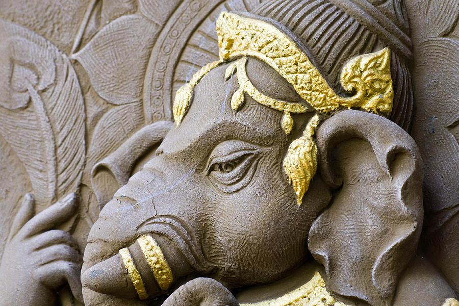 Artistic Relief - Elephant - Headed God   by Nittaya Mungma
