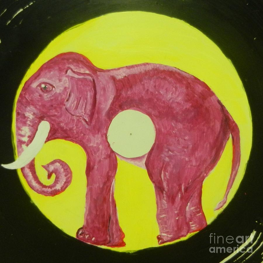 Animal Painting - Elephant Cd by Juan Molina