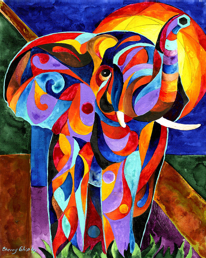Elephant Dream Painting By Sherry Shipley