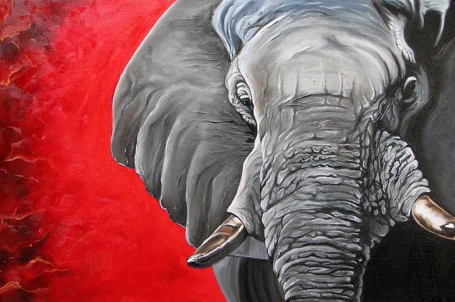 Elephant Painting By Ilse Kleyn