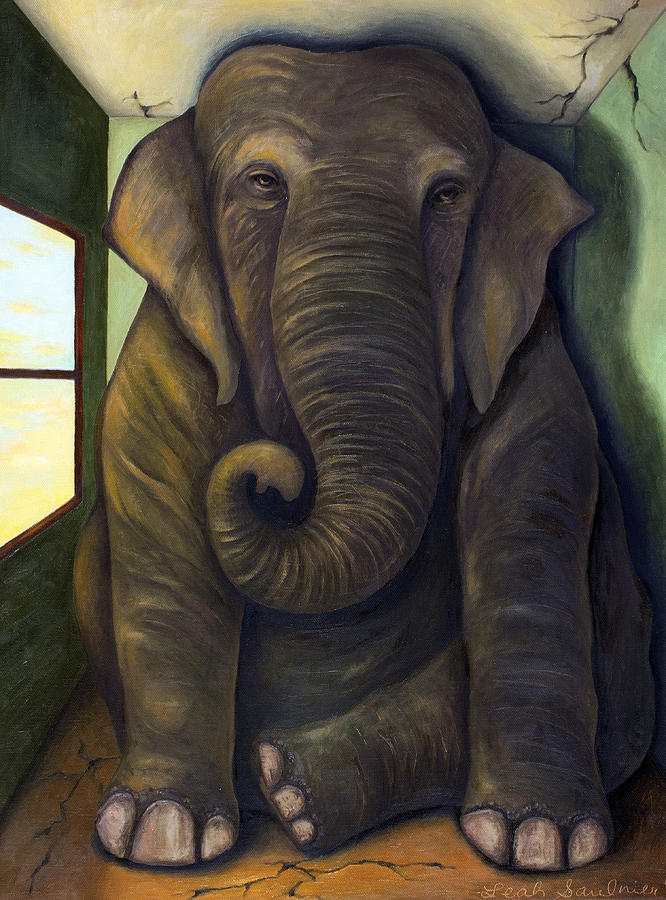 Elephant In The Room Painting by Leah Saulnier The Painting Maniac