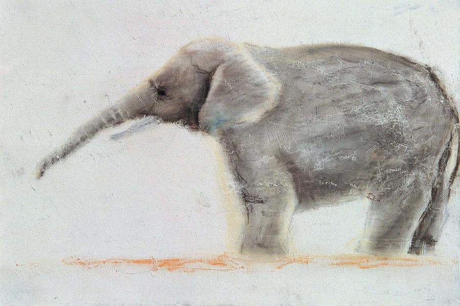 Drawing Painting - Elephant  by Jung Sook Nam