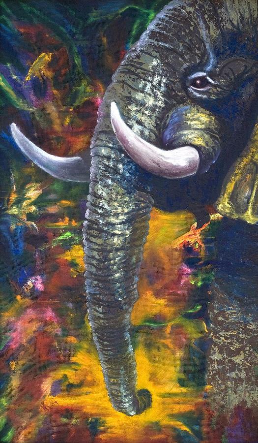 Elephant Painting - Elephant by Kd Neeley