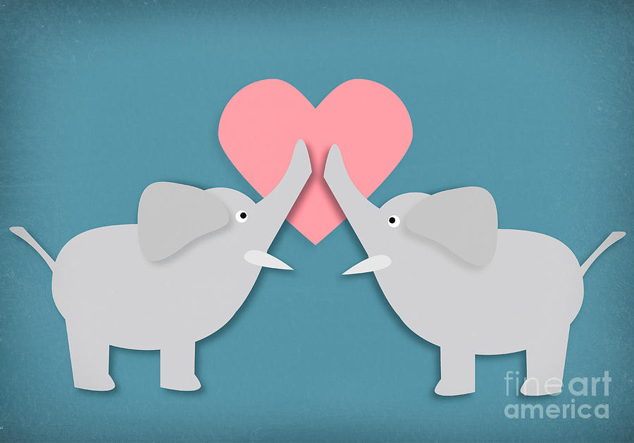 Elephants Photograph - Elephant Love by Sharon Dominick