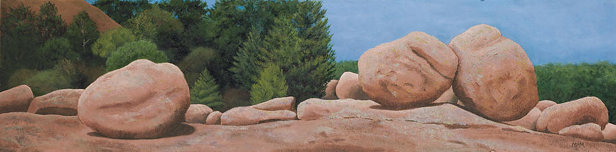Granite Painting - Elephant Rocks by Garry McMichael
