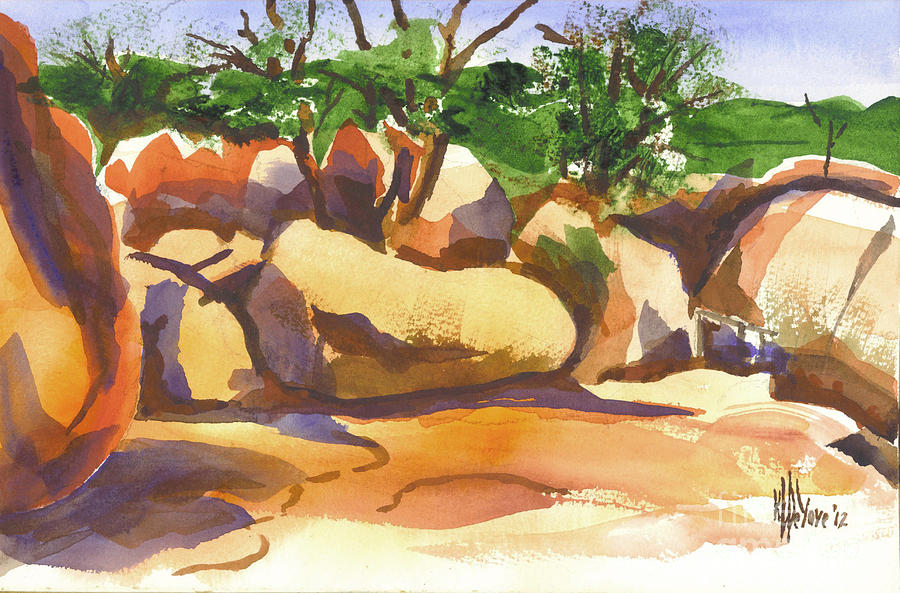 Watercolour Painting - Elephant Rocks Revisited I by Kip DeVore