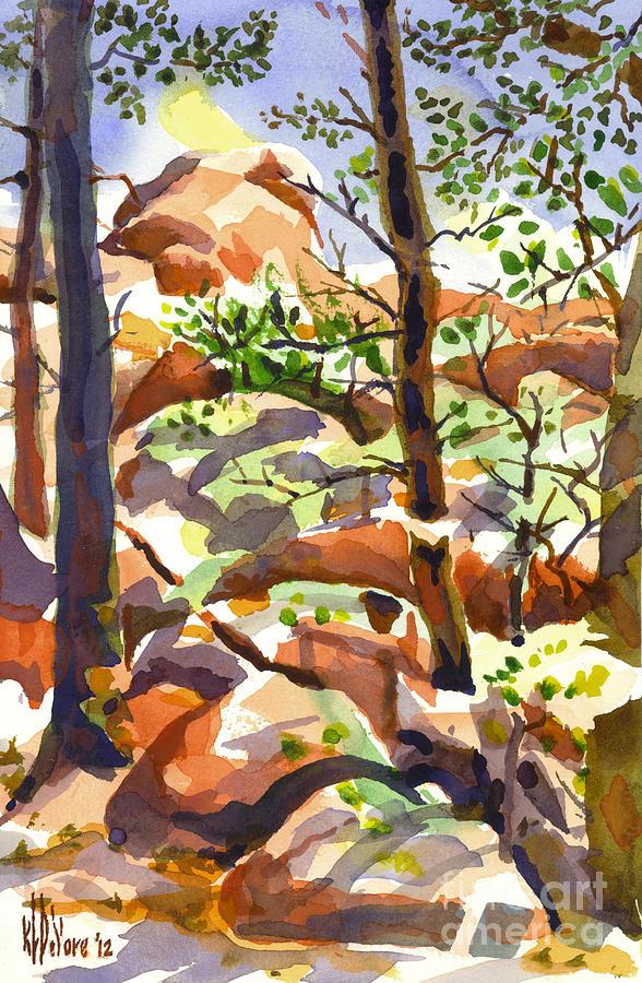 Elephant Rocks Revisited Iib Painting - Elephant Rocks Revisited IIb by Kip DeVore