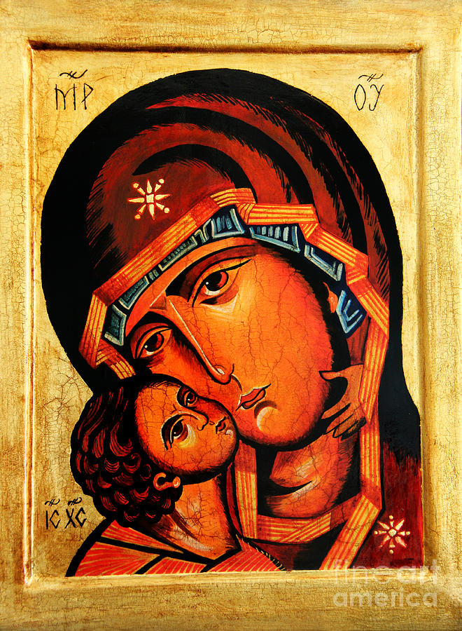 Eleusa Icon Painting